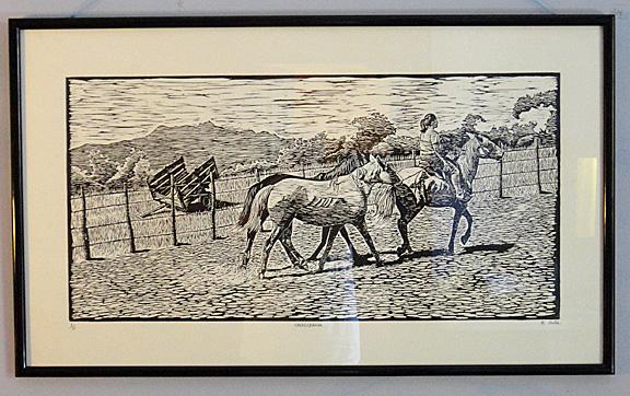 Woodcut print by Rafael Tirado Avila