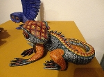 This alebrije is dyed with natural pigments