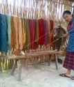 Spinning the wool in Teotitlán del Valle.