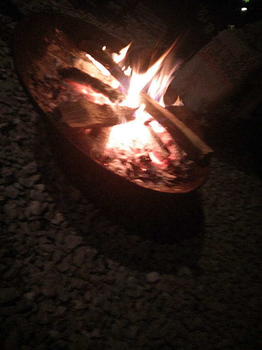 Pretty much every night we enjoyed a fire